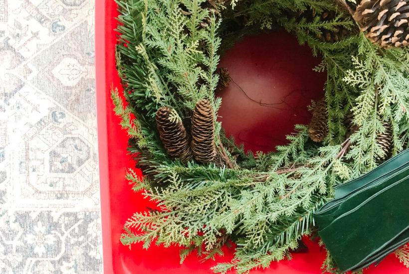 christmas wreath storage