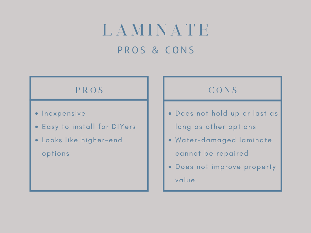 pros and cons of laminate