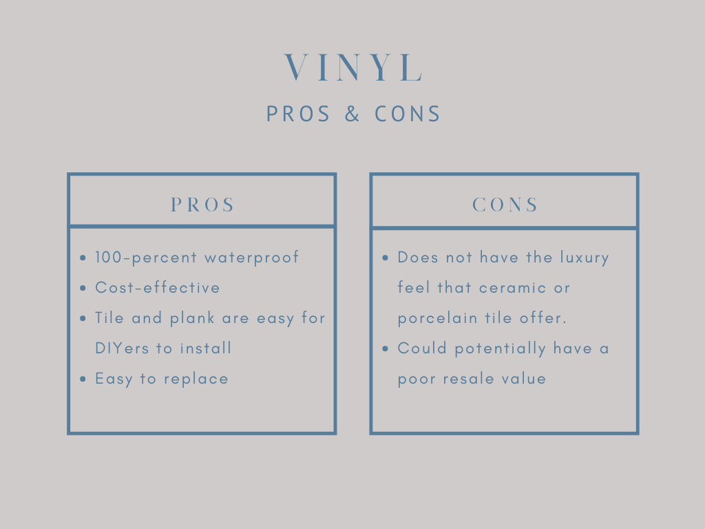 pros and cons of vinyl