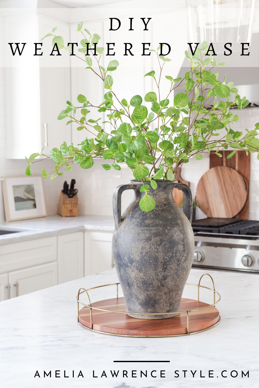 DIY weathered vase