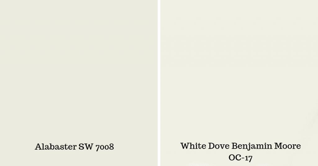 sherwin williams and white dove