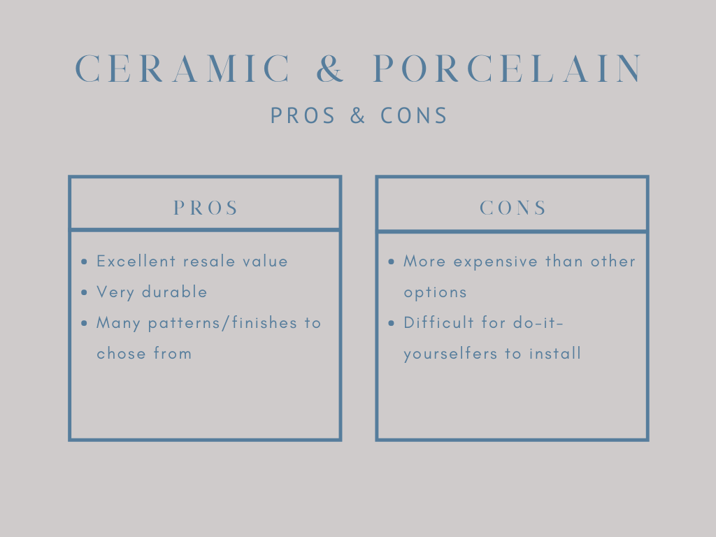 pros and cons of ceramic tile