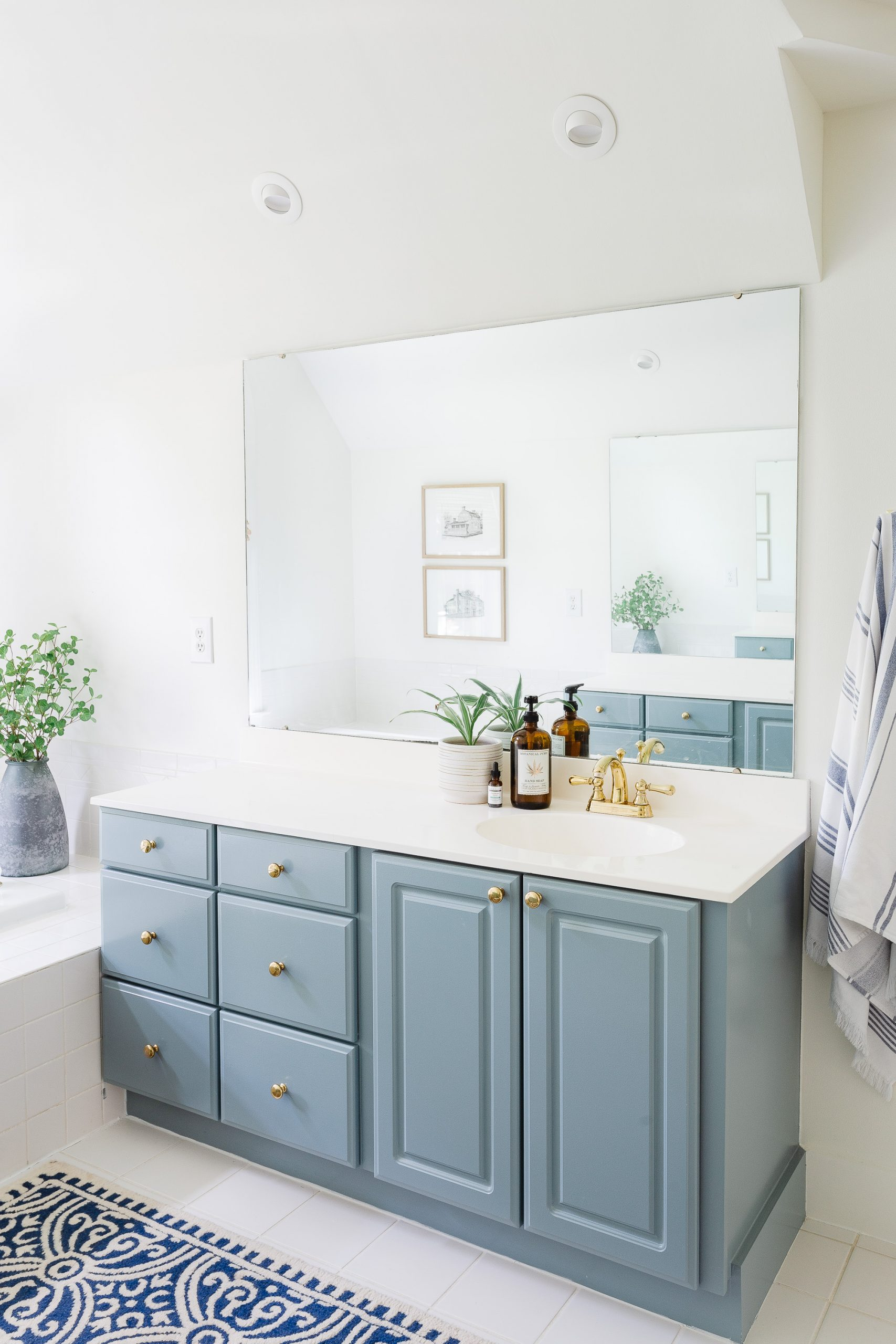 Mistakes to Avoid When Selling Your Home blue bathroom